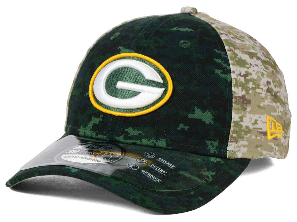 separation shoes 3e183 e9098 Green Bay Packers New Era NFL 2015 Salute to Service 39THIRTY Cap