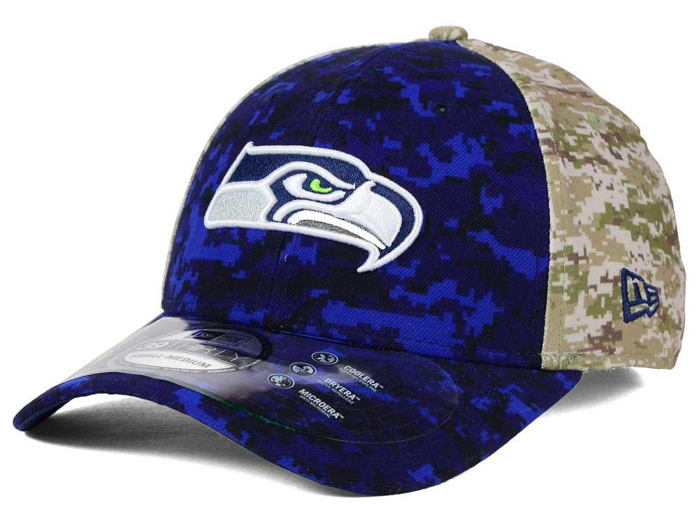 93c32d8ca Seattle Seahawks New Era NFL 2015 Salute to Service 39THIRTY Cap ...