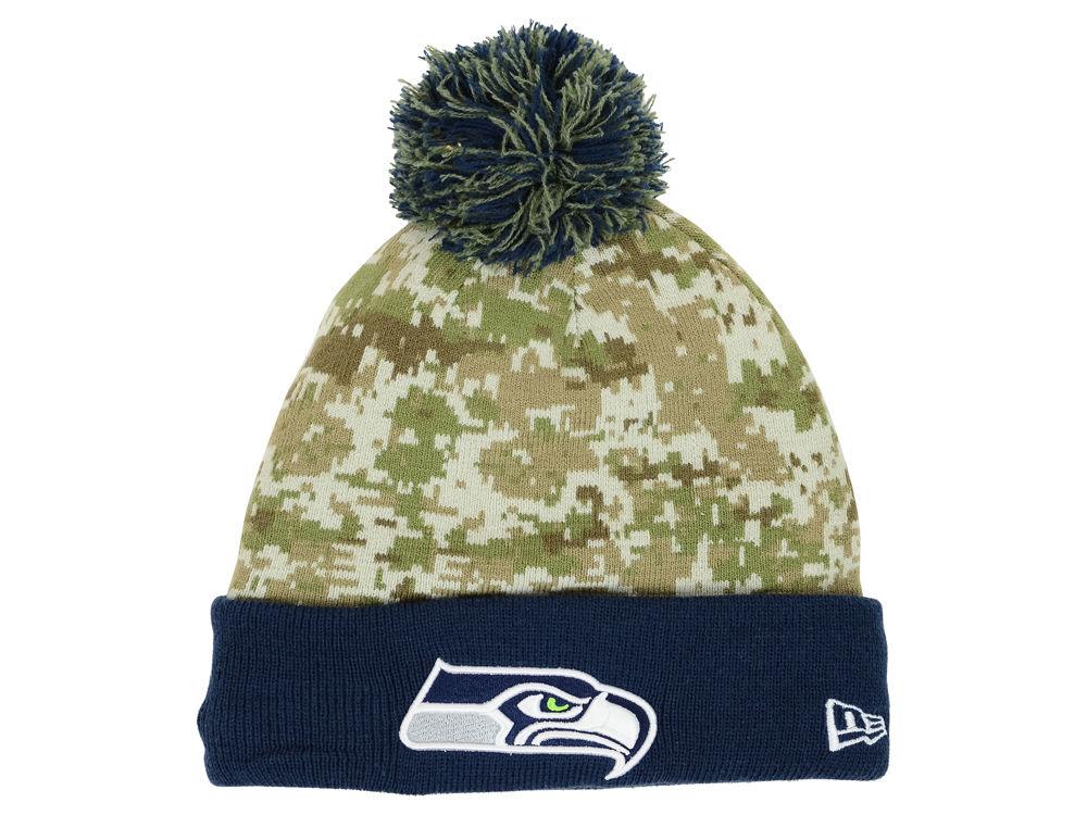 e0a243d1a3d Seattle Seahawks New Era NFL 2015 Salute to Service Knit