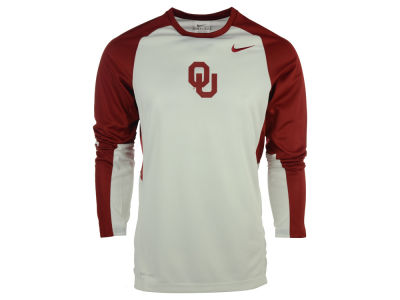 Oklahoma Sooners Nike NCAA Men's Elite Shootaround Long Sleeve T-Shirt