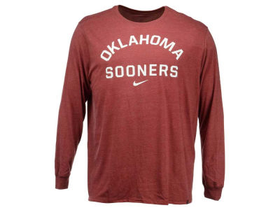 Oklahoma Sooners Nike NCAA Men's Triblend Conviction Long Sleeve T-Shirt