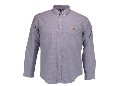 LSU Tigers Vesi NCAA Men's PM Gingham Woven Button Up Shirt