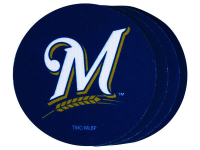 Milwaukee Brewers 4-pack Neoprene Coaster Set