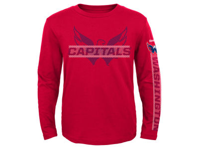 Washington Capitals NHL Youth Line Up Long Sleeve T-Shirt