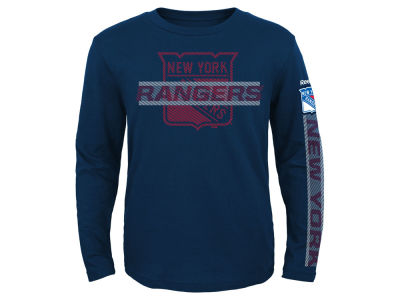 New York Rangers NHL Youth Line Up Long Sleeve T-Shirt