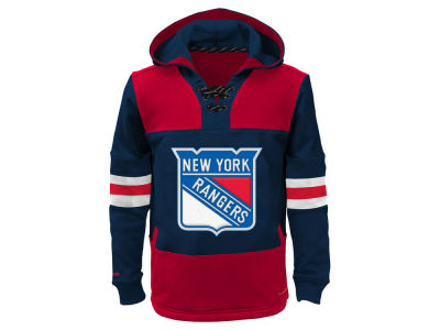 New York Rangers NHL Youth Offside Poly Fleece Hoodie