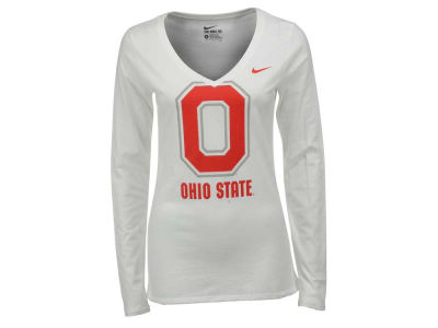 Nike NCAA Women's Mid V Logo Long Sleeve T-Shirt