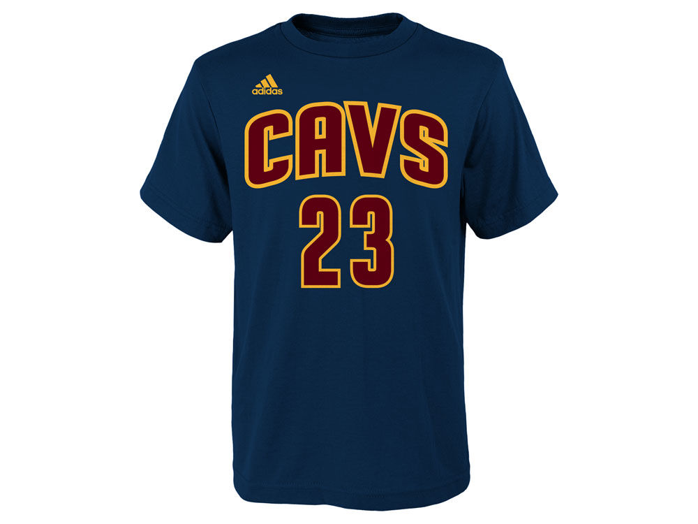 cleveland cavaliers lebron james adidas nba kids name and number t