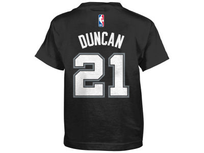 San Antonio Spurs Tim Duncan NBA Kids Name And Number T-Shirt