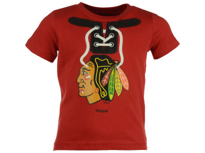 Chicago Blackhawks NHL Toddler Mock Lace Up T-Shirt