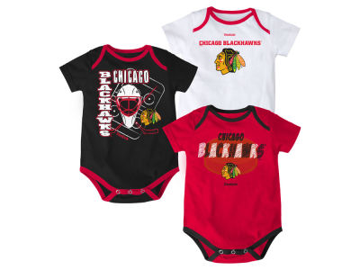 Chicago Blackhawks NHL Newborn 3 Part Spread Creeper Set
