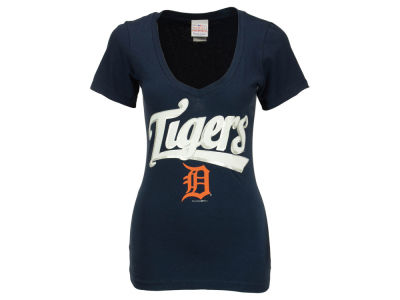 Detroit Tigers Ian Kinsler 5th & Ocean MLB Women's Foil Player V-Neck T-Shirt