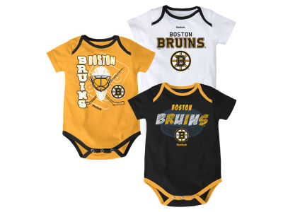 Boston Bruins NHL Newborn 3 Part Spread Creeper Set