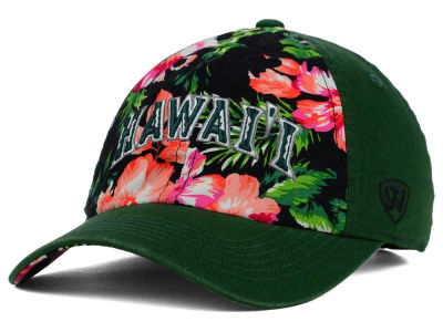 Hawaii Warriors Top of the World NCAA Beach Bum Cap