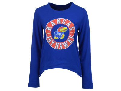 Kansas Jayhawks NCAA Women's Home Field Long Sleeve Crew Fleece Sweatshirt