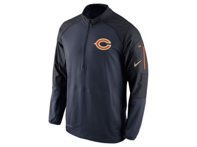 Chicago Bears Nike NFL Men's Champ Drive Sideline Hybrid 1/4 Zip Pullover Jacket