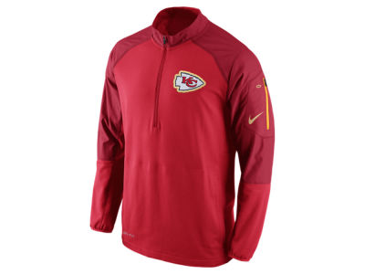 Kansas City Chiefs Nike NFL Men's Champ Drive Sideline Hybrid 1/4 Zip Pullover Jacket