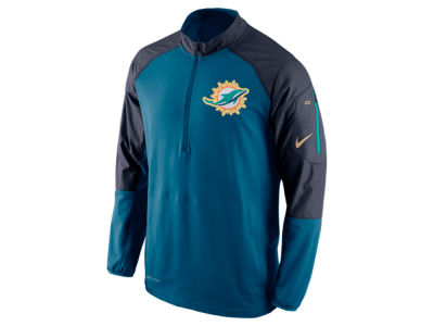 Miami Dolphins Nike NFL Men's Champ Drive Sideline Hybrid 1/4 Zip Pullover Jacket