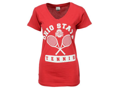 Ohio State Buckeyes NCAA Women's Arch Tennis V-Neck T-Shirt