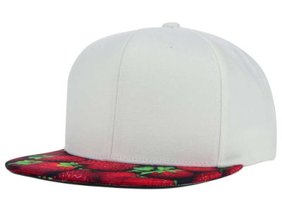 Top of the World July Strawberry Printed Visor Snapback Hat