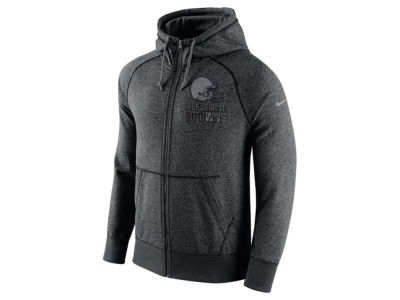 Cleveland Browns Nike NFL Men's Gridiron Grey Full Zip Hoodie