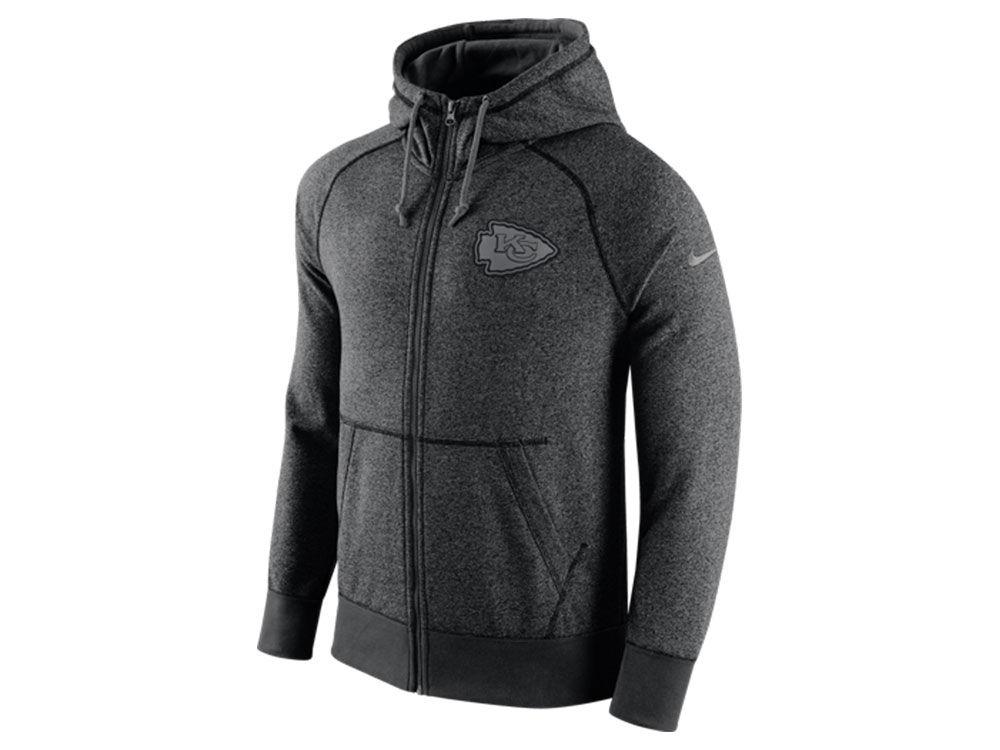5d11f6b14 Kansas City Chiefs Nike NFL Men s Gridiron Grey Full Zip Hoodie ...