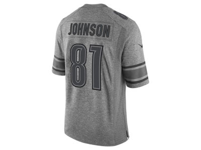 Detroit Lions Calvin Johnson Nike NFL Men's Gridiron Grey Jersey