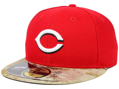 Cincinnati Reds New Era MLB 2015 Memorial Day Stars and Stripes 59FIFTY Cap