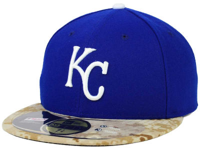 Kansas City Royals New Era MLB 2015 Memorial Day Stars and Stripes 59FIFTY Cap