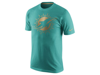 Miami Dolphins Nike NFL Men's Champ Drive Sideline Dri-Fit Cotton T-Shirt