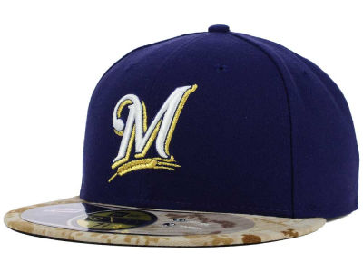 Milwaukee Brewers New Era MLB 2015 Memorial Day Stars and Stripes 59FIFTY Cap