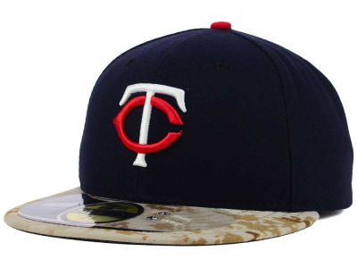 Minnesota Twins New Era MLB 2015 Memorial Day Stars and Stripes 59FIFTY Cap