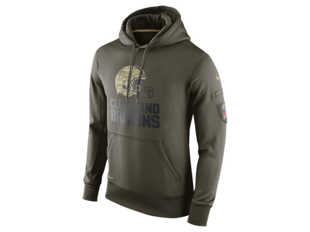 0ece77c0d Cleveland Browns Nike NFL Men s Salute To Service KO Hoodie