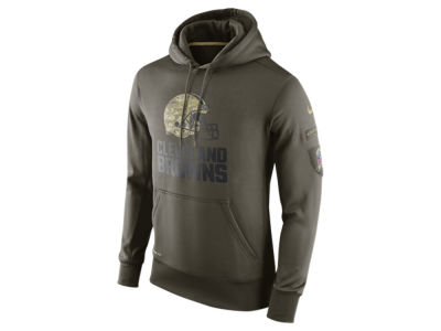 Cleveland Browns Nike NFL Men's Salute To Service KO Hoodie