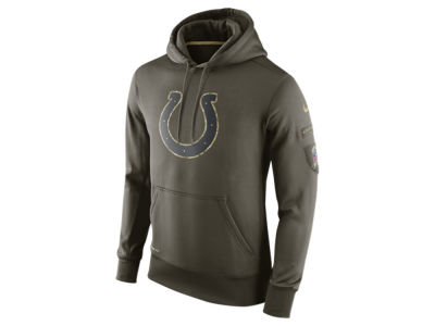 Indianapolis Colts Nike NFL Men's Salute To Service KO Hoodie