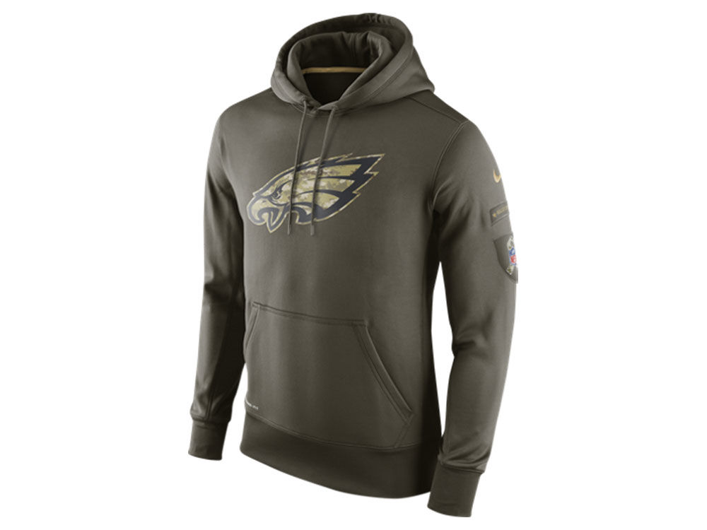 Philadelphia Eagles Nike NFL Men s Salute To Service KO Hoodie ... 6adc0ec60