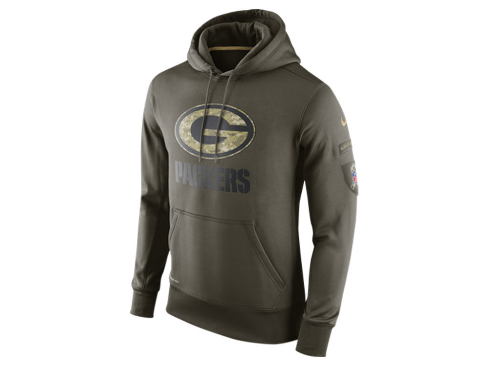 Green Bay Packers Nike NFL Men s Salute To Service KO Hoodie  0b203e9b0