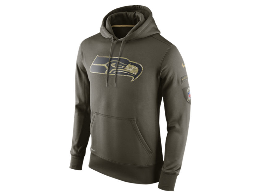 Seattle Seahawks Nike NFL Men s Salute To Service KO Hoodie  701ea4625