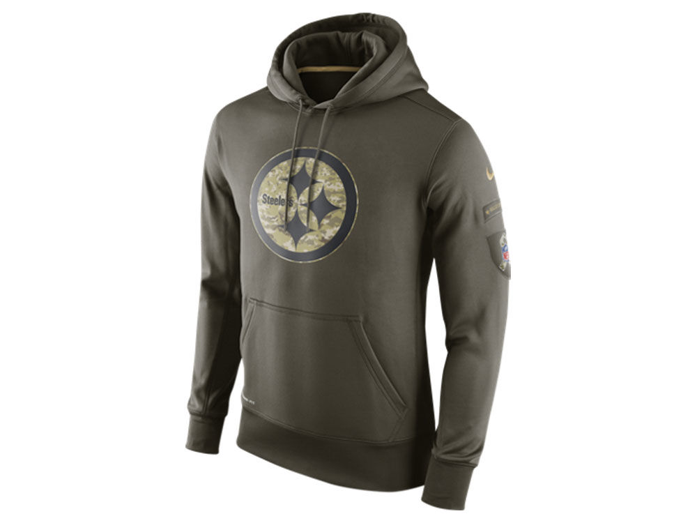 Pittsburgh Steelers Nike NFL Men s Salute To Service KO Hoodie ... f3d95d4e1