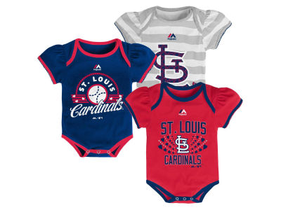 St. Louis Cardinals Outerstuff MLB Infant Girls Triple Play Creeper Set