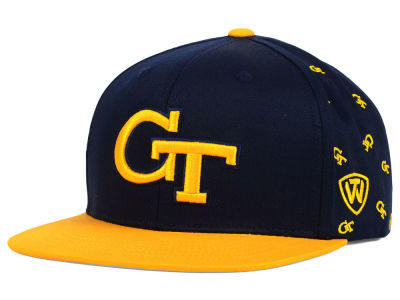 Georgia-Tech Top of the World NCAA All Flocking Cap