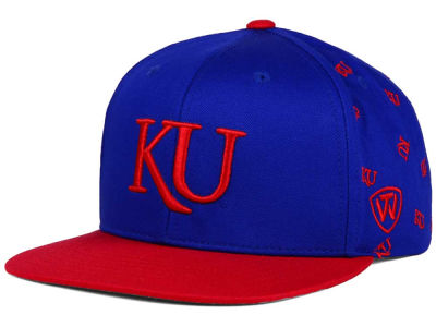 Kansas Jayhawks Top of the World NCAA All Flocking Cap