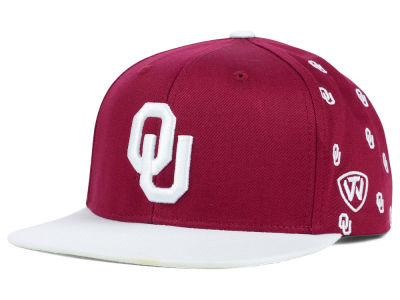 Oklahoma Sooners Top of the World NCAA All Flocking Cap