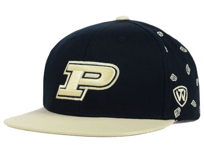 Purdue Boilermakers Top of the World NCAA All Flocking Cap