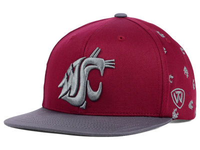 Washington State Cougars Top of the World NCAA All Flocking Cap