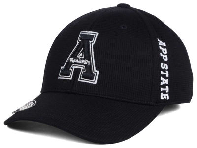 Appalachian State Mountaineers Top of the World NCAA Black White Booster Cap