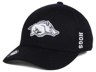 Arkansas Razorbacks Top of the World NCAA Black White Booster Cap