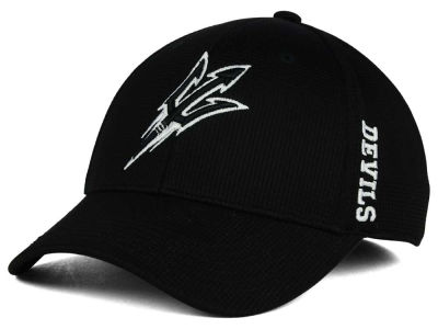 Arizona State Sun Devils Top of the World NCAA Black White Booster Cap