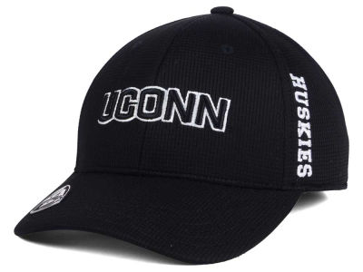 Connecticut Huskies Top of the World NCAA Black White Booster Cap