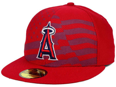 Los Angeles Angels New Era MLB 2015 July 4th Stars & Stripes 59FIFTY Cap